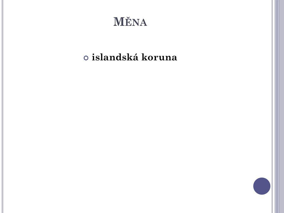 M ĚNA islandská koruna
