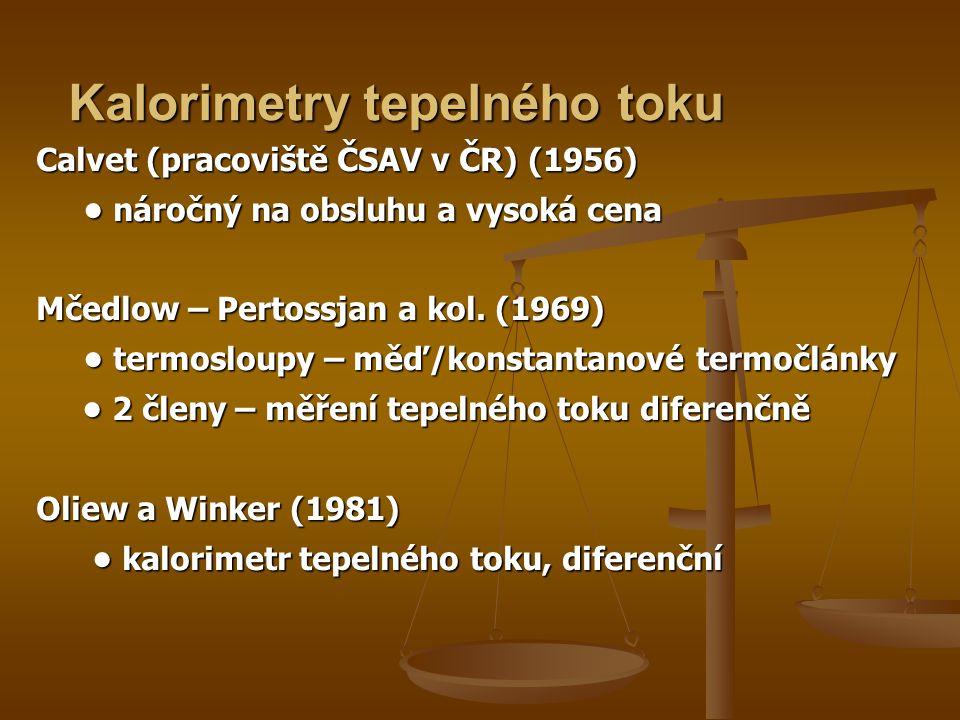 Calvet (pracoviště ČSAV v ČR) (1956) • náročný na obsluhu a vysoká cena Mčedlow – Pertossjan a kol.