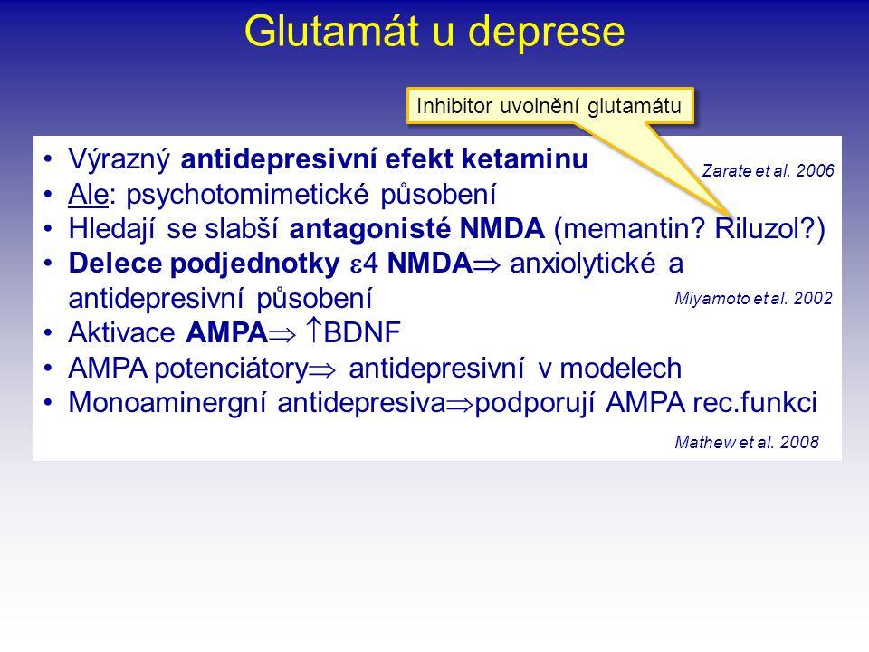 """•""""Feeding peptides •MCH (melanin-koncentrující hormon), orexigen •MCH 1 receptor v nc.accumbens •Antagonisti MCH 1 receptoru  antidepresivní v modelu plavacího testu •Podobně myši KO pro MCH 1 •Zatím potíže s klinickým zkoušením na lidech •Orexin (hypokretin) •Neuropeptid Y •Melanokortin (  MSH)  anorexigenní •CART •Regulují nejen orexii ale i """"reward systémy a anhedonii Hypotalamické peptidy u deprese Cocaine- and amphetamine- regulated transcript Saito et al."""