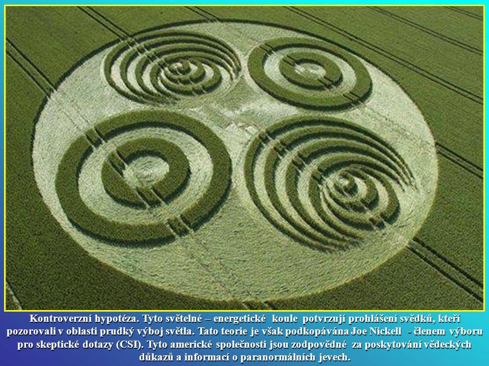 Vysoké napětí a energie. Byla odhalena přítomnost vzácných radioaktivních izotopů na místě výskytu kruhů v obilí. Podle těchto teorií, světelných koul