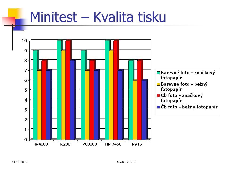 11.10.2005 Martin Krištof Minitest – Kvalita tisku