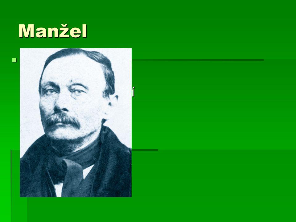 Manžel  Manžel se jmenoval Josef Němec. Manželství šťastné nebylo.Manžel byl služebně překládán,tak se rodina často stěhovala.