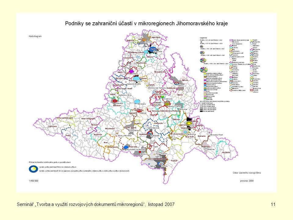 """Seminář """"Tvorba a využití rozvojových dokumentů mikroregionů , listopad 200711"""