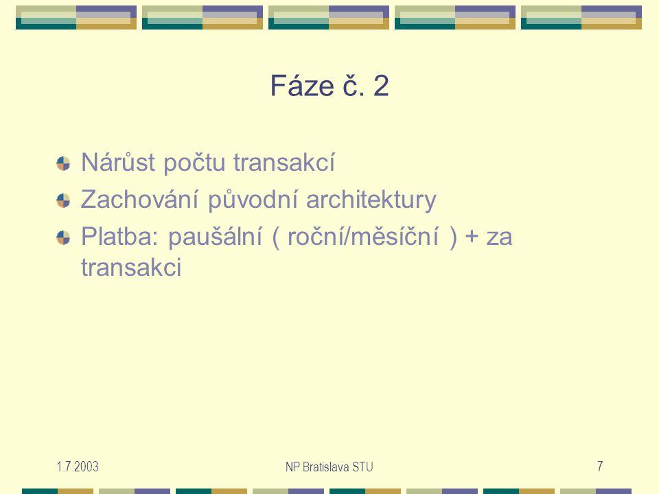 1.7.2003NP Bratislava STU7 Fáze č.