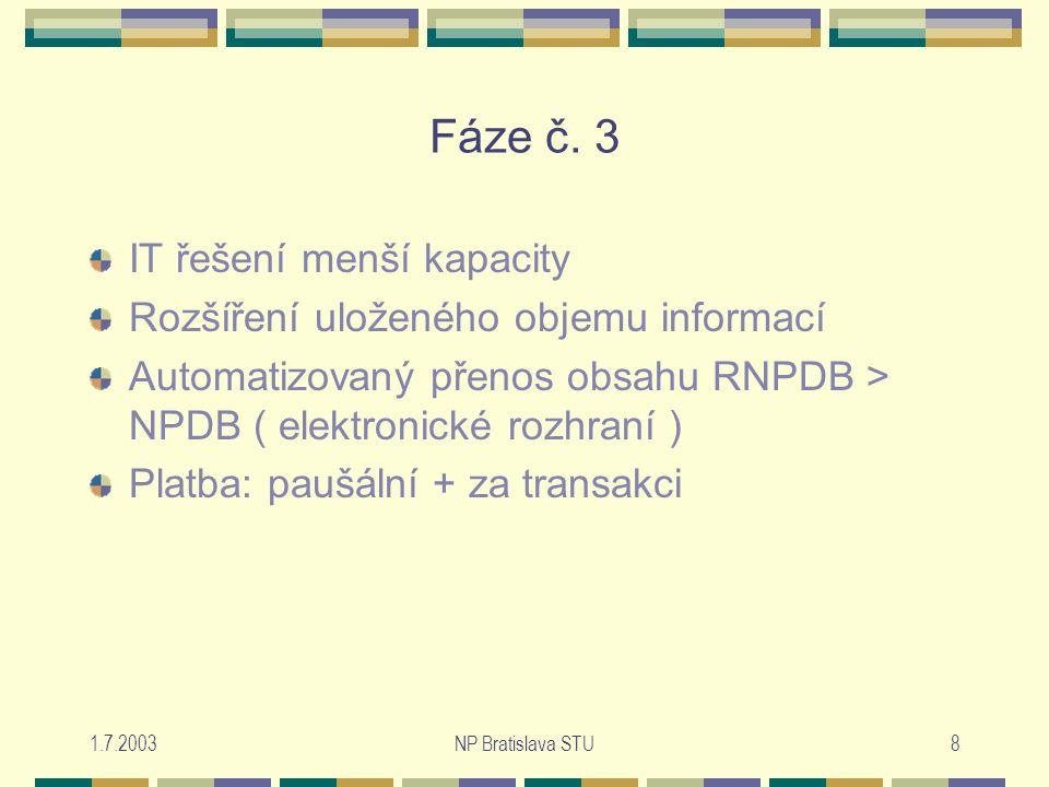 1.7.2003NP Bratislava STU8 Fáze č.