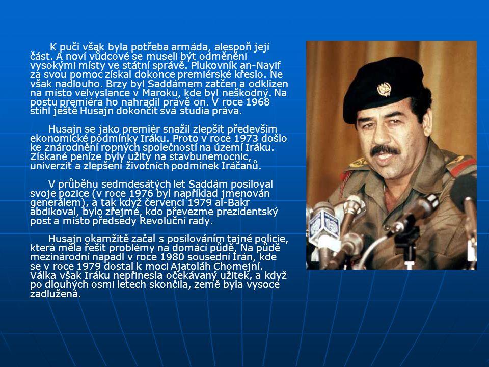Životopis: Jeho otec zemřel krátce po narození syna a tak malý Saddám neměl lehké dětství, protože rodina třela bídu s nouzí. Přesto se mu však podaři