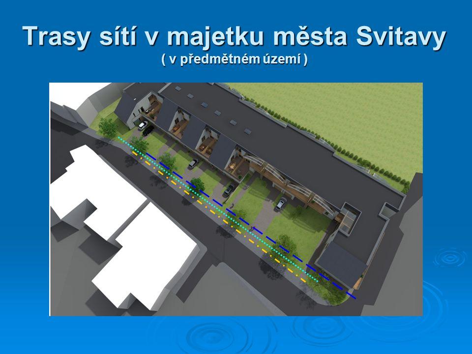 Trasy sítí v majetku města Svitavy ( v předmětném území )
