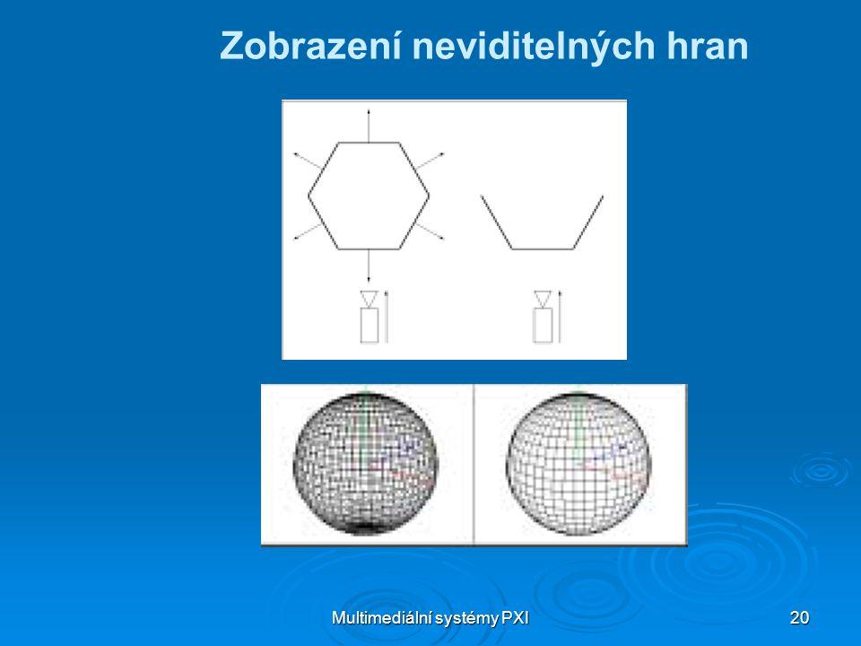 Multimediální systémy PXI 20 Zobrazení neviditelných hran