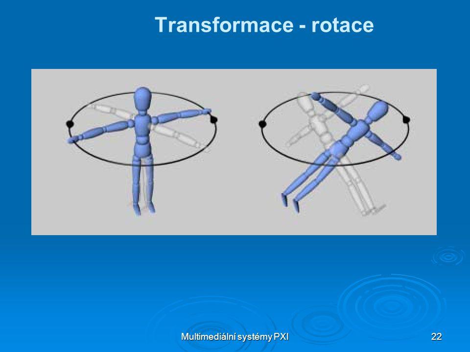 Multimediální systémy PXI 22 Transformace - rotace