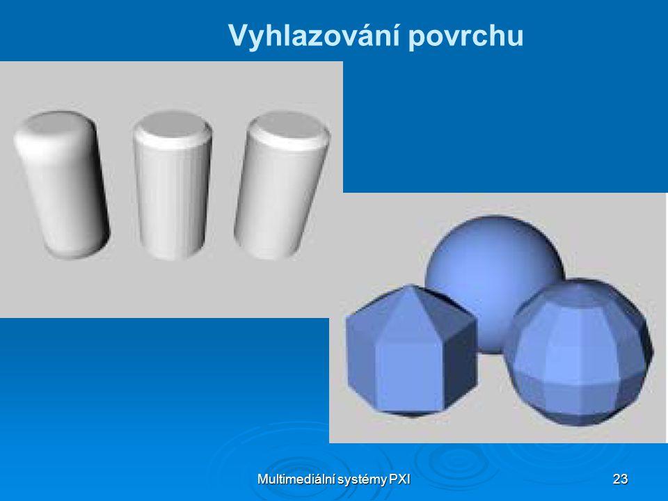 Multimediální systémy PXI 23 Vyhlazování povrchu
