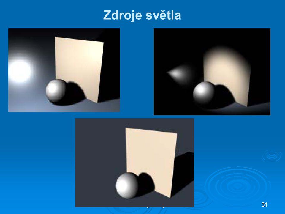 Multimediální systémy PXI 31 Zdroje světla