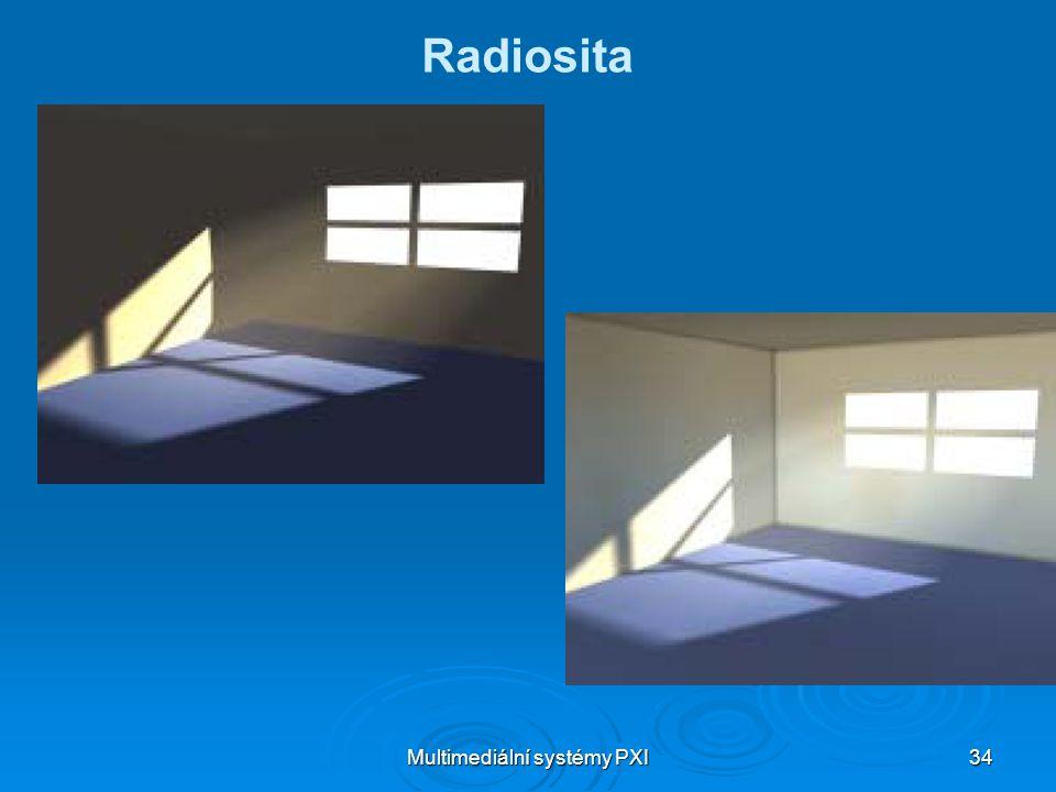 Multimediální systémy PXI 34 Radiosita