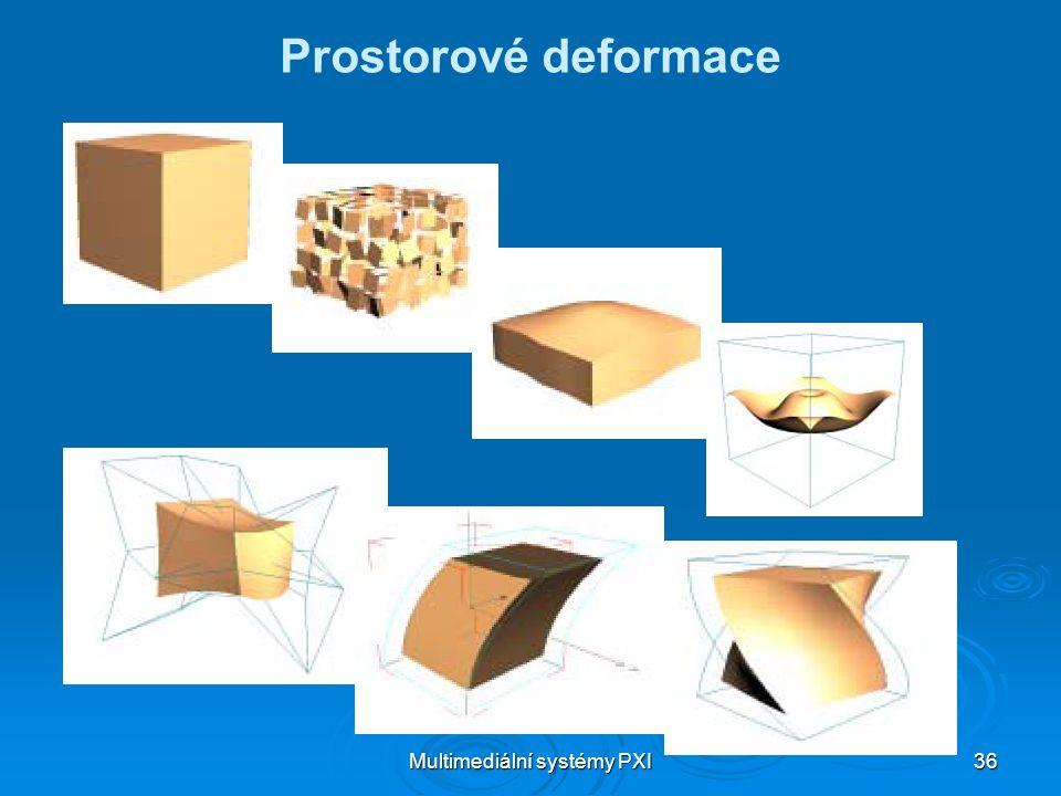 Multimediální systémy PXI 36 Prostorové deformace