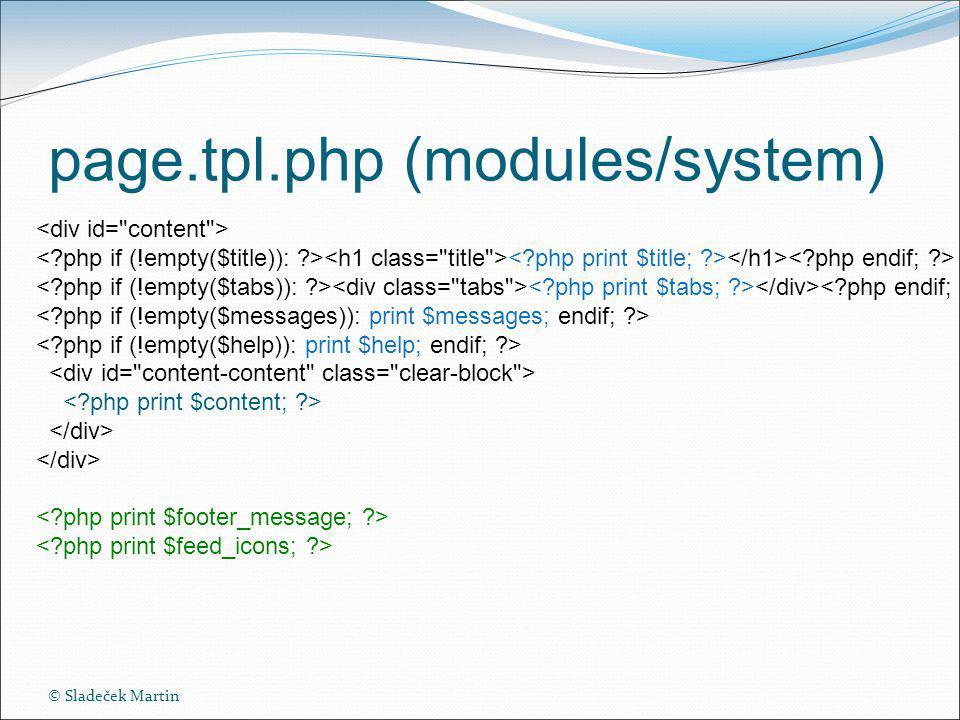 © Sladeček Martin page.tpl.php (modules/system)