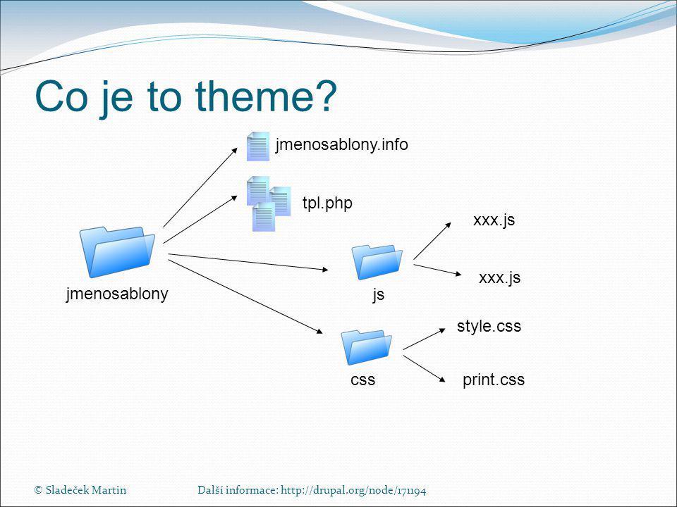 © Sladeček MartinDalší informace: http://drupal.org/node/171194 Co je to theme.