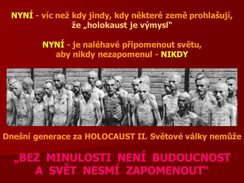 Tento email je rozesílán jako připomínka pro celé lidstvo, na památku 6 milionů židů, 20 milionů Rusů, 10 milionů křesťanů, vězněných, zavražděných, zabitých, utlučených, upálených, ponížených...