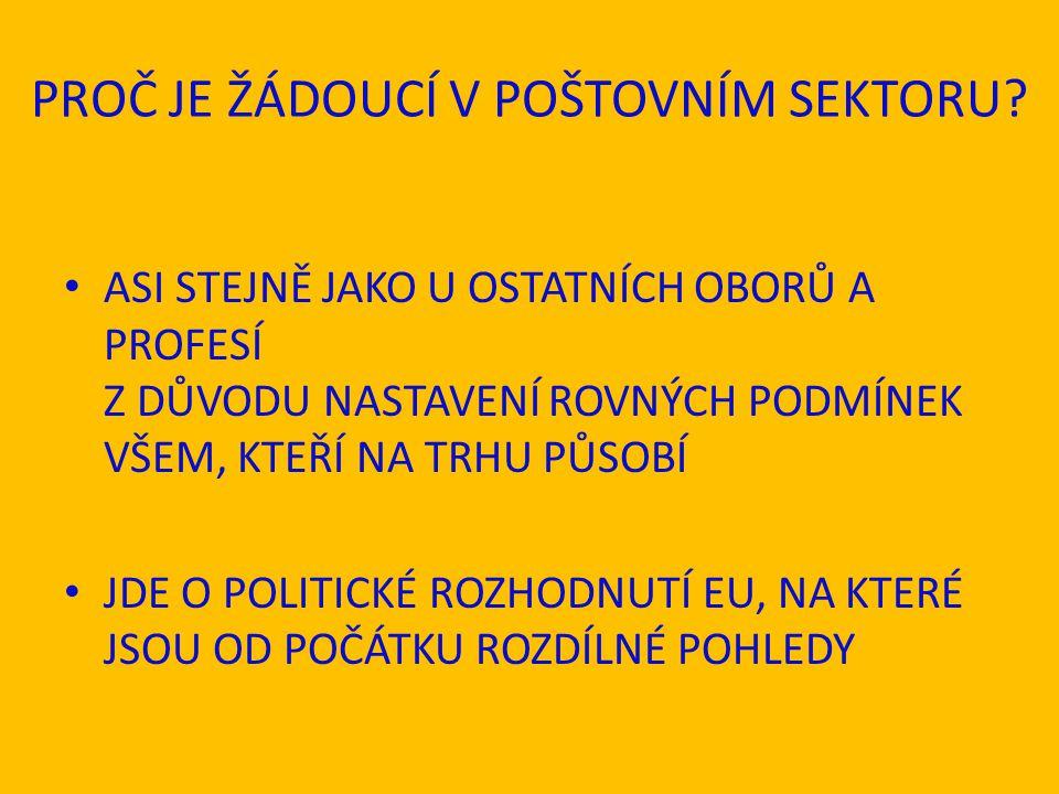 III.POŠTOVNÍ SMĚRNICE (DIREKTIVA) Č.