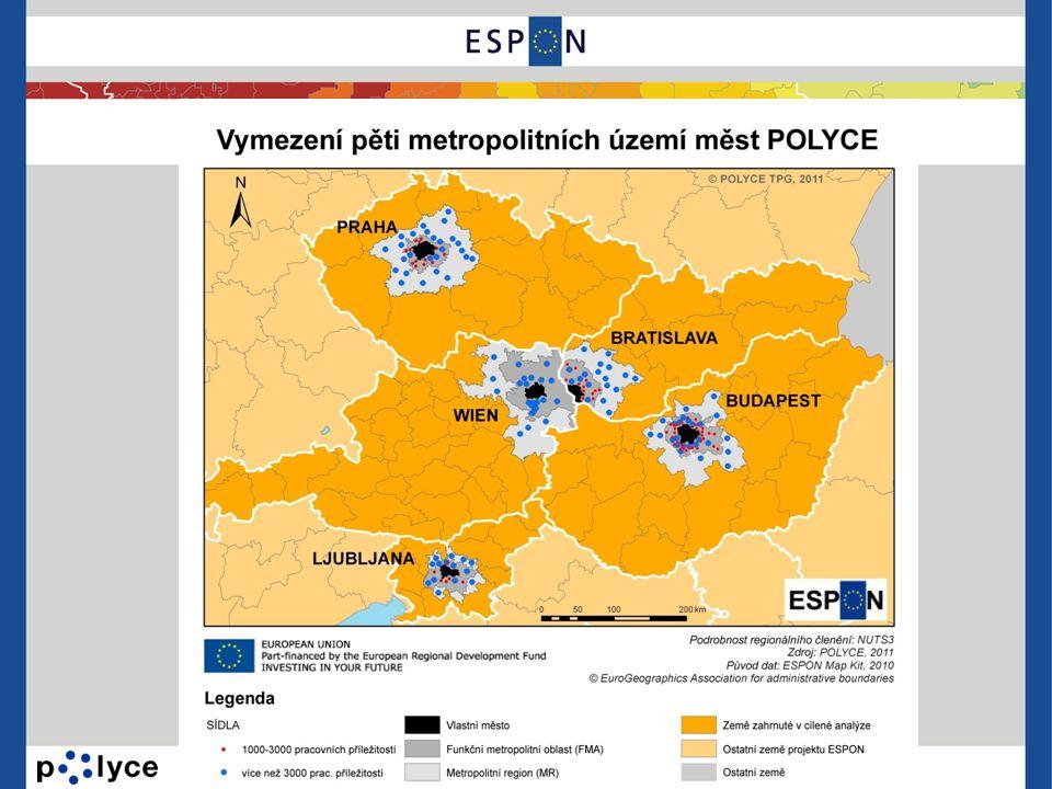 Vztahy měst: propojení ve výzkumu Polycentrické vztahy mezi městy POLYCE týkající se výzkumné činnosti