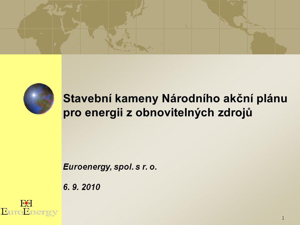 1 Stavební kameny Národního akční plánu pro energii z obnovitelných zdrojů Euroenergy, spol.
