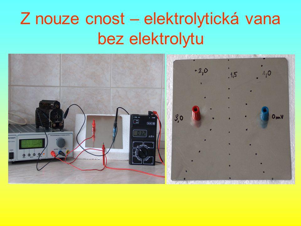 Z nouze cnost – elektrolytická vana bez elektrolytu