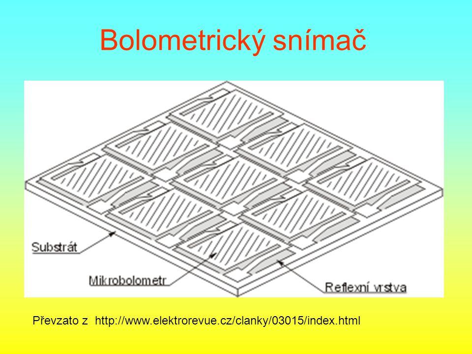 Bolometrický snímač Převzato z http://www.elektrorevue.cz/clanky/03015/index.html