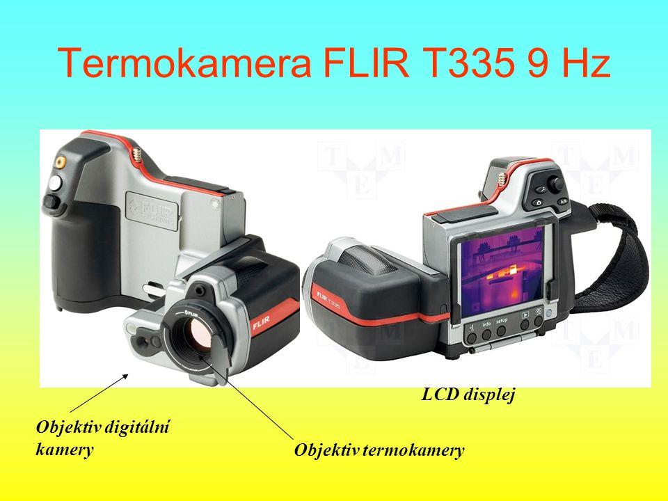 Termokamera FLIR T335 9 Hz Objektiv digitální kamery Objektiv termokamery LCD displej