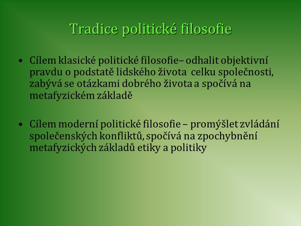 Klasická politická filosofie Platón (427–347 př.n.