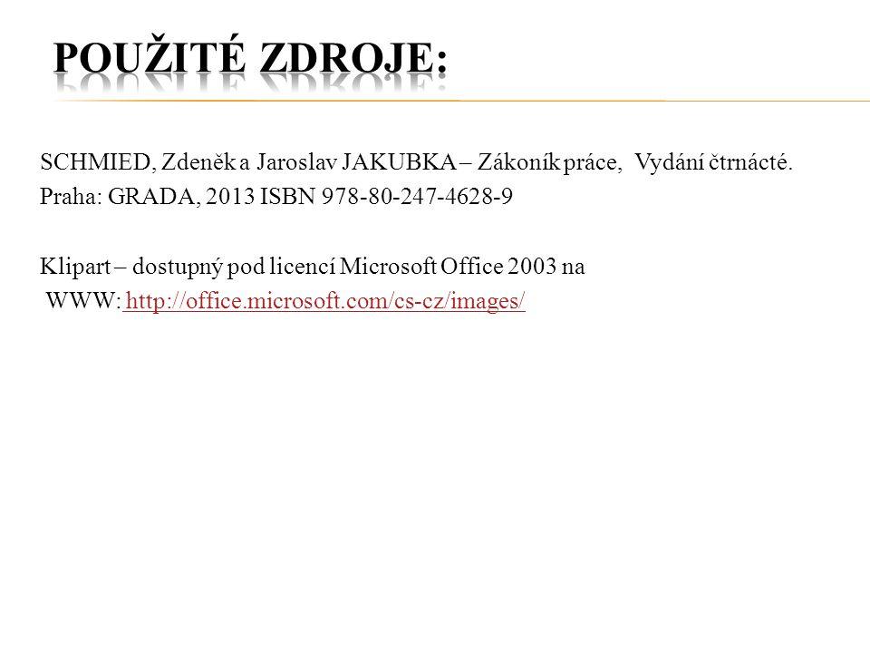 SCHMIED, Zdeněk a Jaroslav JAKUBKA – Zákoník práce, Vydání čtrnácté.