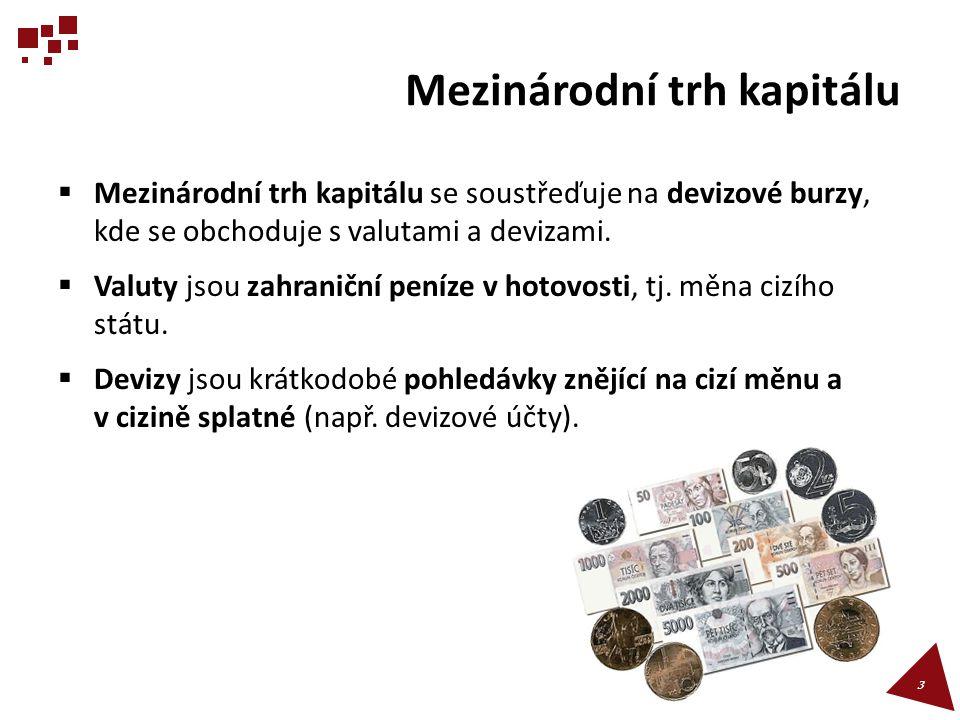 Shrnutí 3/4  Měnová arbitráž vede k jednotné úrovni kurzu dané měny po celém světě.