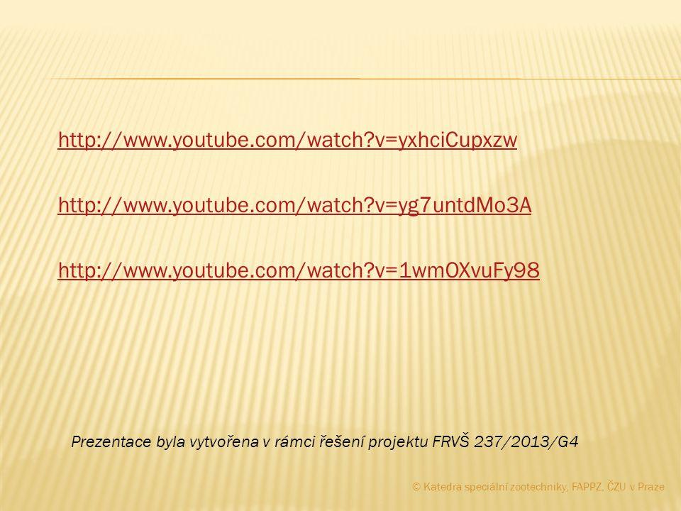 http://www.youtube.com/watch?v=yxhciCupxzw http://www.youtube.com/watch?v=yg7untdMo3A http://www.youtube.com/watch?v=1wmOXvuFy98 © Katedra speciální z