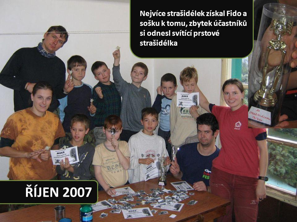 Nejvíce strašidélek získal Fido a sošku k tomu, zbytek účastníků si odnesl svítící prstové strašidélka ŘÍJEN 2007