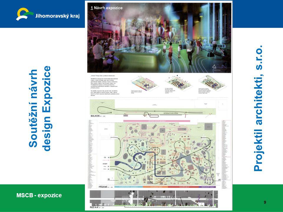 9 Soutěžní návrh design Expozice Projektil architekti, s.r.o.