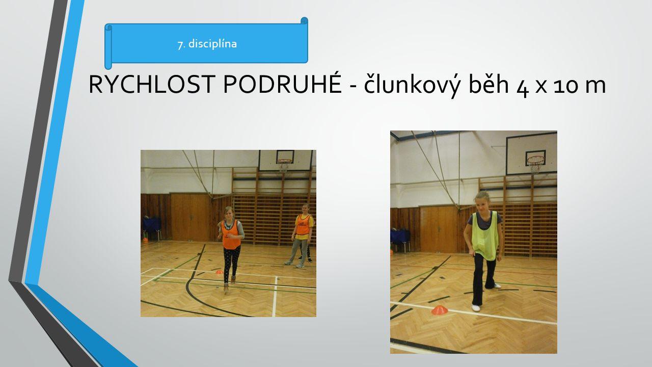 RYCHLOST PODRUHÉ - člunkový běh 4 x 10 m 7. disciplína