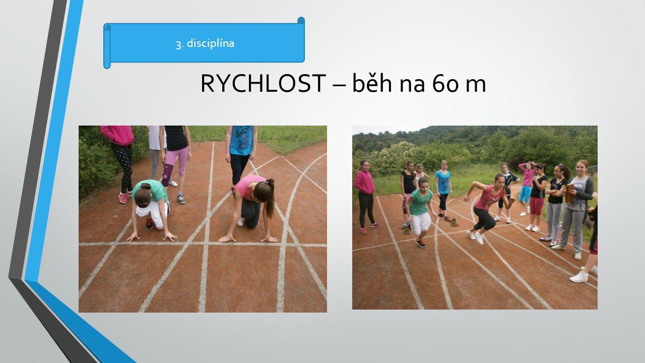 RYCHLOST – běh na 60 m 3. disciplína