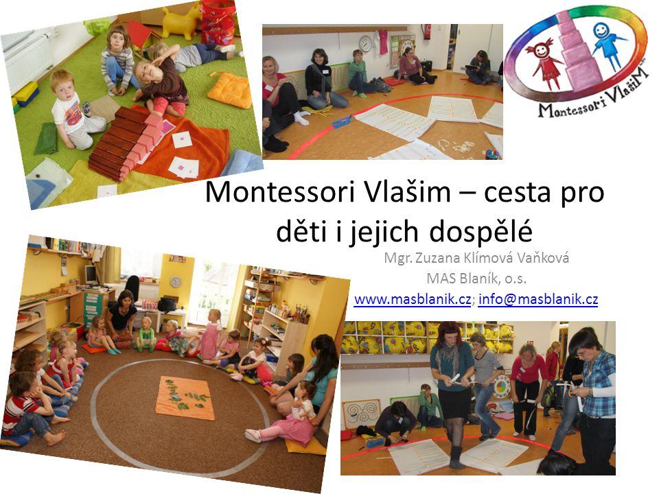 Montessori Vlašim – cesta pro děti i jejich dospělé Mgr. Zuzana Klímová Vaňková MAS Blaník, o.s. www.masblanik.czwww.masblanik.cz; info@masblanik.czin
