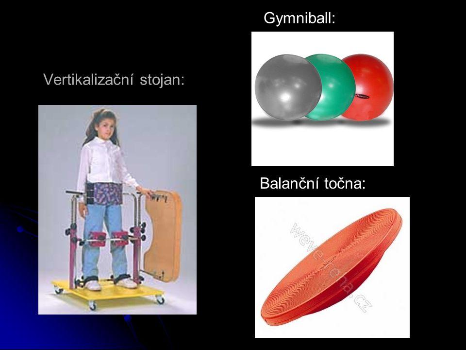 Balanční točna: Gymniball: Vertikalizační stojan: