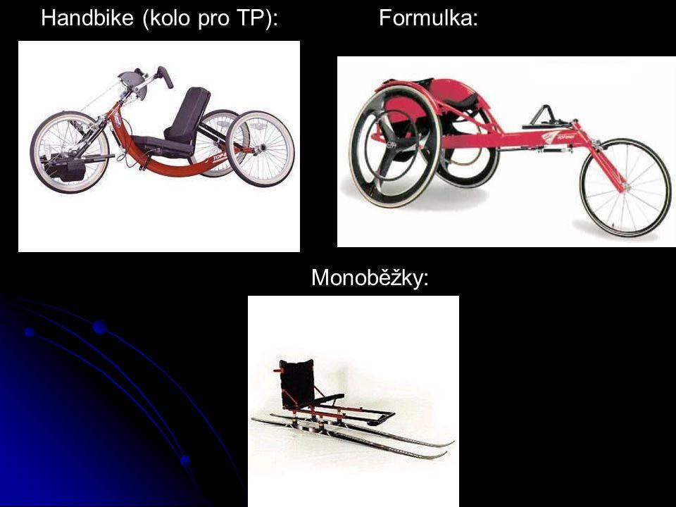 Handbike (kolo pro TP):Formulka: Monoběžky: