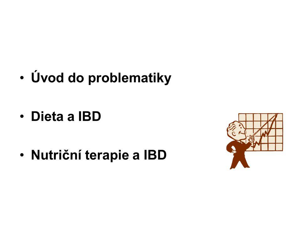 •Úvod do problematiky •Dieta a IBD •Nutriční terapie a IBD
