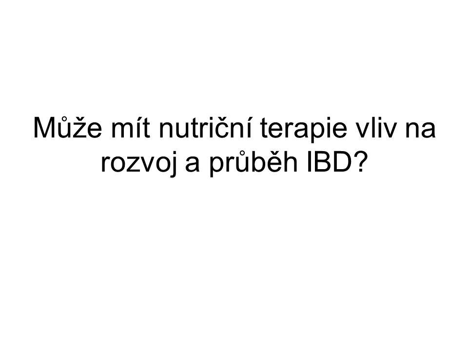 Může mít nutriční terapie vliv na rozvoj a průběh IBD?