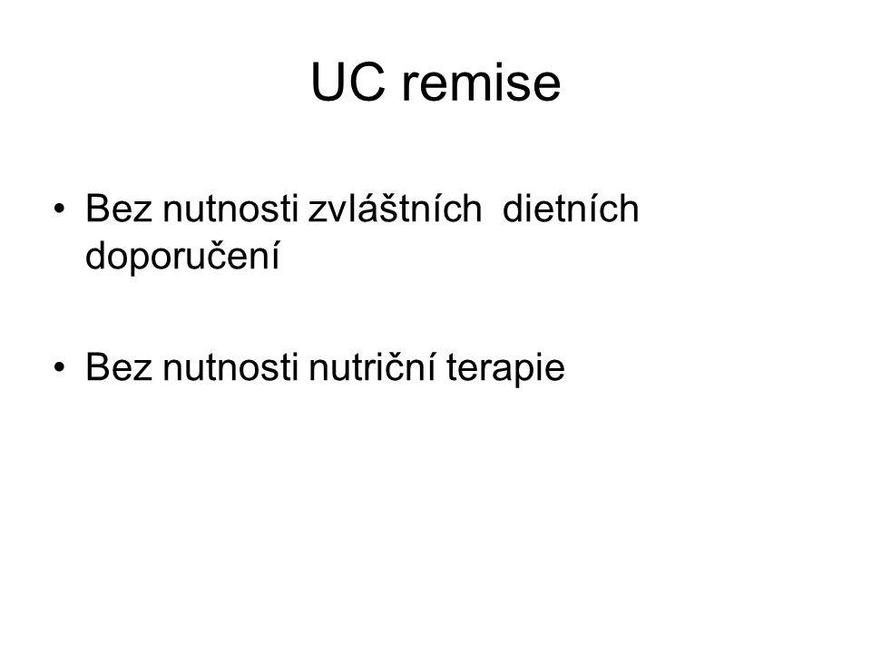 UC remise •Bez nutnosti zvláštních dietních doporučení •Bez nutnosti nutriční terapie
