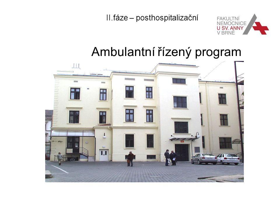 II.fáze – posthospitalizační Ambulantní řízený program