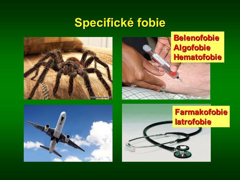 Specifické fobie BelenofobieAlgofobieHematofobie FarmakofobieIatrofobie