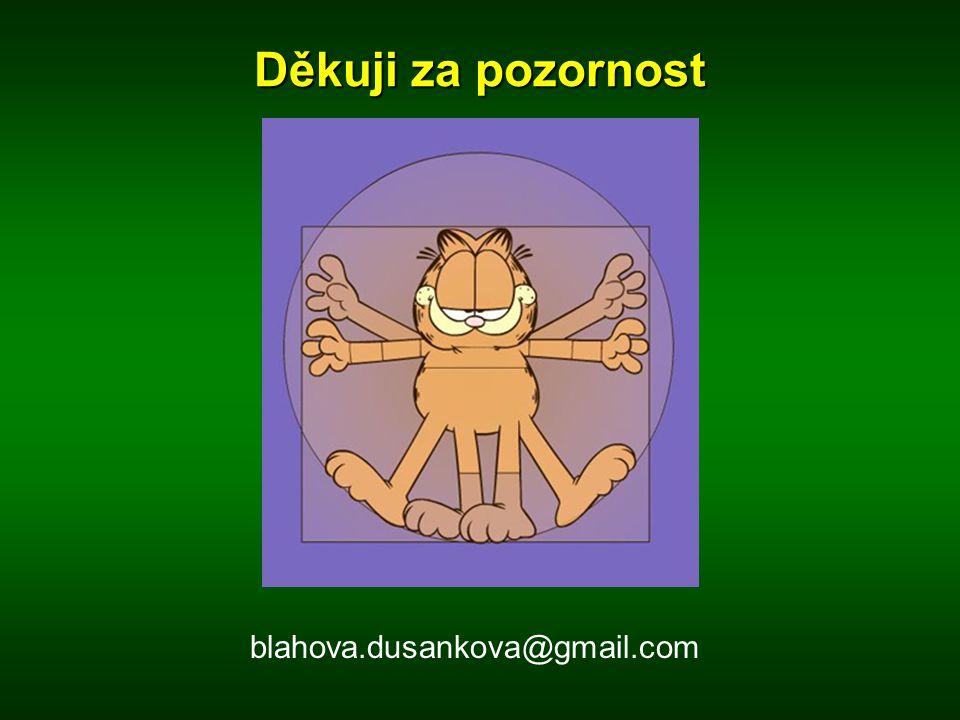 Děkuji za pozornost blahova.dusankova@gmail.com