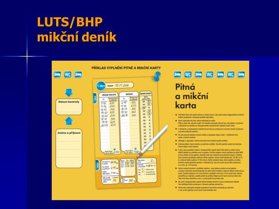 LUTS/BHP mikční deník