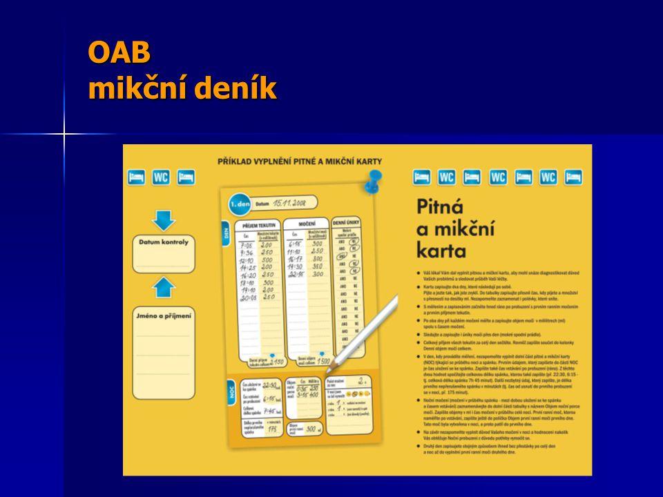 OAB mikční deník