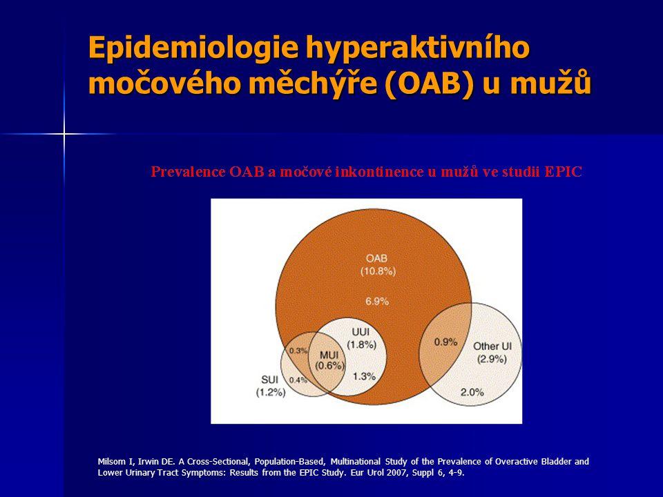 Epidemiologie hyperaktivního močového měchýře (OAB) u mužů Milsom I, Irwin DE.