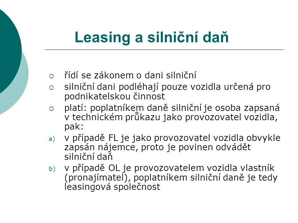 Finanční leasing v dalších variantách  zpětný leasing – specifická forma leasingu založená na odkupu věci, která je již ve vlastnictví zákazníka a následném splácení leasingových splátek.
