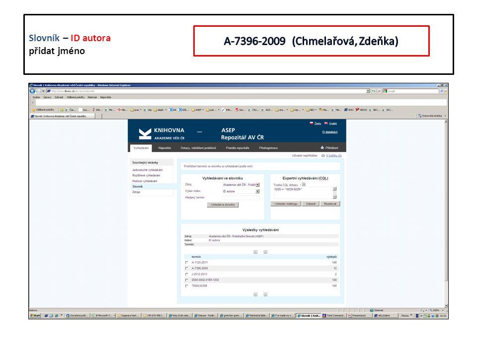 ISMN - bude společný slovník ISBN/ISSN/ISMN ISBN/ISSN/ISMN