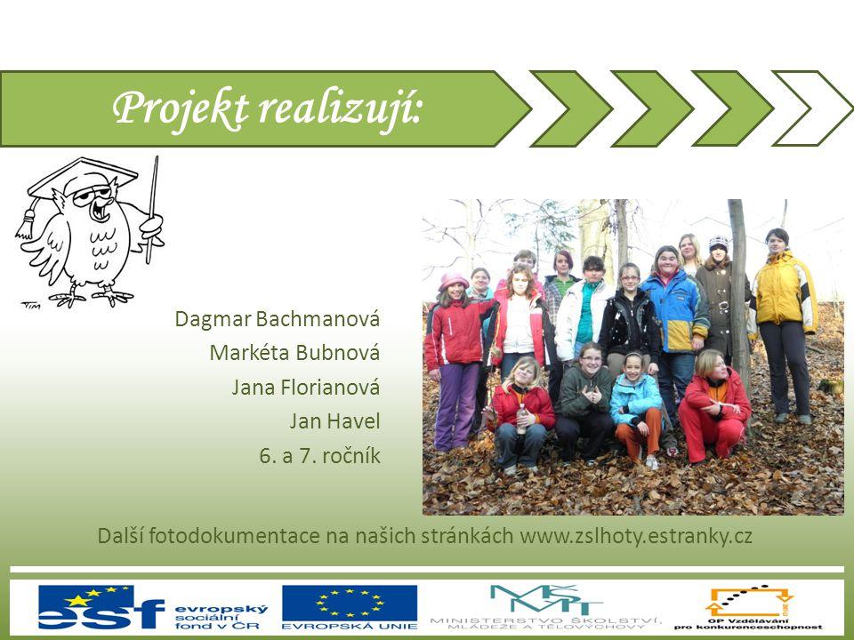 Projekt realizují: Dagmar Bachmanová Markéta Bubnová Jana Florianová Jan Havel 6. a 7. ročník Další fotodokumentace na našich stránkách www.zslhoty.es
