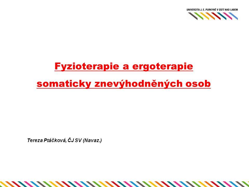 Fyzioterapie a ergoterapie somaticky znevýhodněných osob Tereza Ptáčková, ČJ SV (Navaz.)